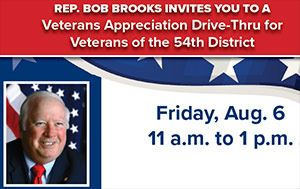 54th District Veterans Drive-Through Appreciation Lunch with Rep Bob Brooks
