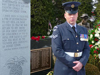 British Cpl. James Newman, Royal Air Force Regiment